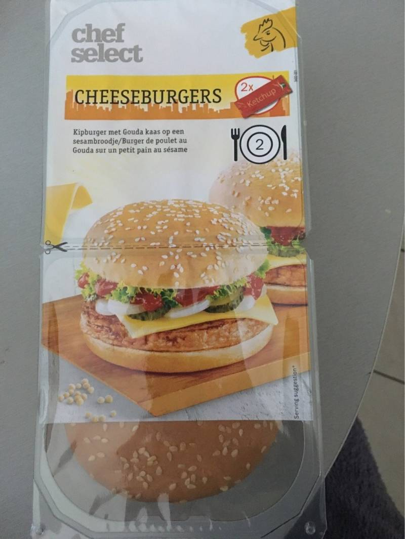 Cheeseburger 2 stuk
