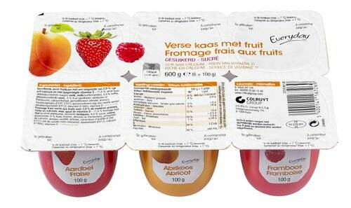 Everyday Yoghurt Verse Kaas & Fruit 6x 100gr