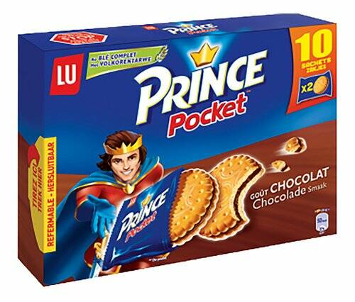 Lu Prince Pocket Chocolade 10x40gr
