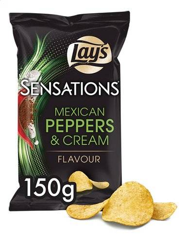 Lay's Sensations Mex Peppers & Cream 150gr