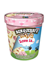 Ben & Jerry's Topped Love is 500ml