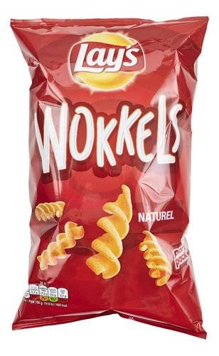 Lay's Wokkels Naturel Zout 125gr