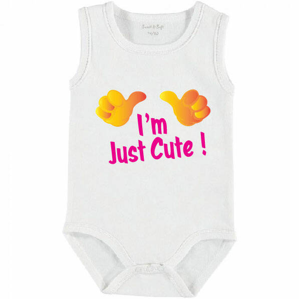 002 Romper I'm Just Cute Roze
