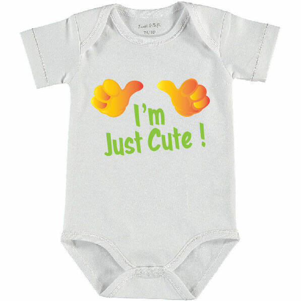 003 Romper I'm Just Cute Groen