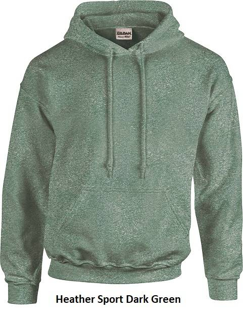 Hooded Heather Sport Dark Green