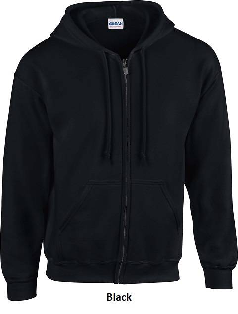 Hooded Zip kleur Black