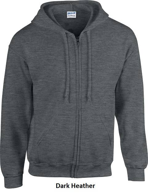 Hooded Zip kleur Dark Heather