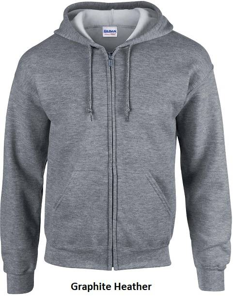 Hooded Zip kleur Graphite Heather
