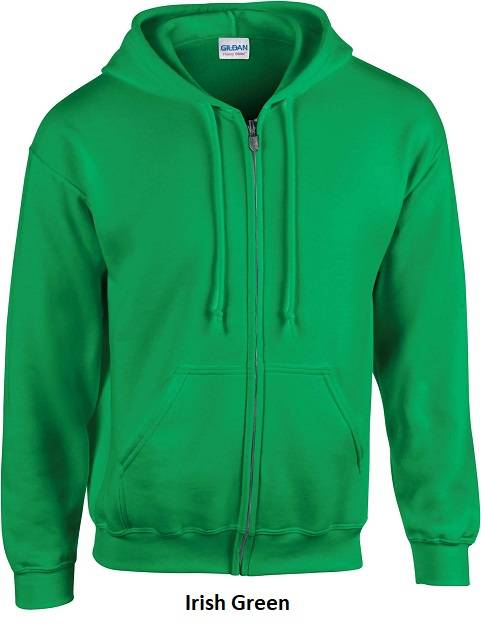 Hooded Zip kleur Irish Green