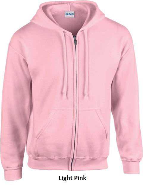 Hooded Zip kleur Light Pink