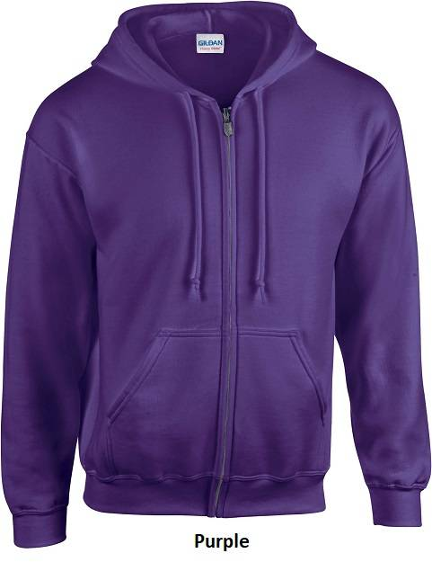Hooded Zip kleur Purple