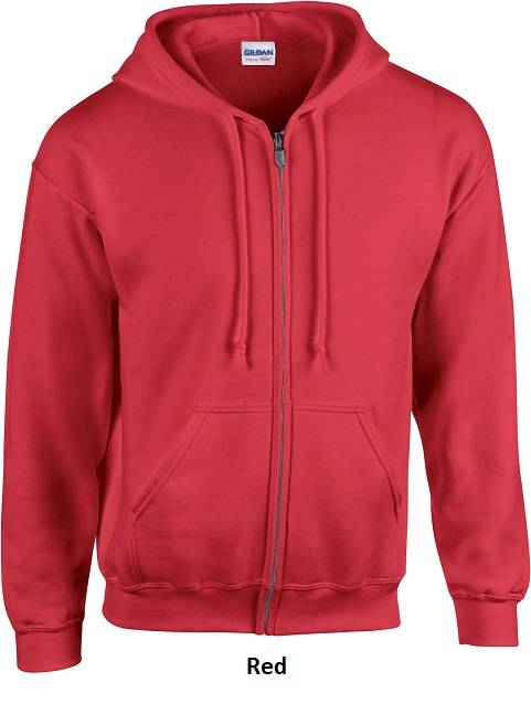 Hooded Zip Red