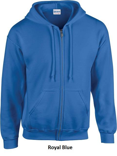 Hooded Zip kleur Royal Blue