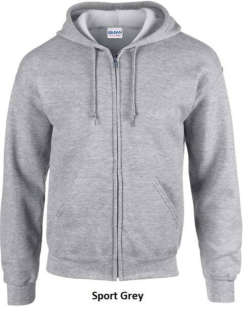 Hooded Zip kleur Sport Grey401