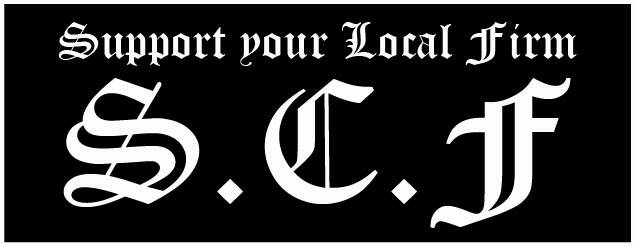 Sticker Support your local Firm
