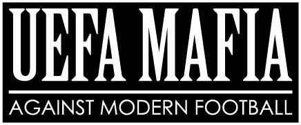 Sticker.  UEFA MAFIA AGAINST MODERN FOOTBALL .