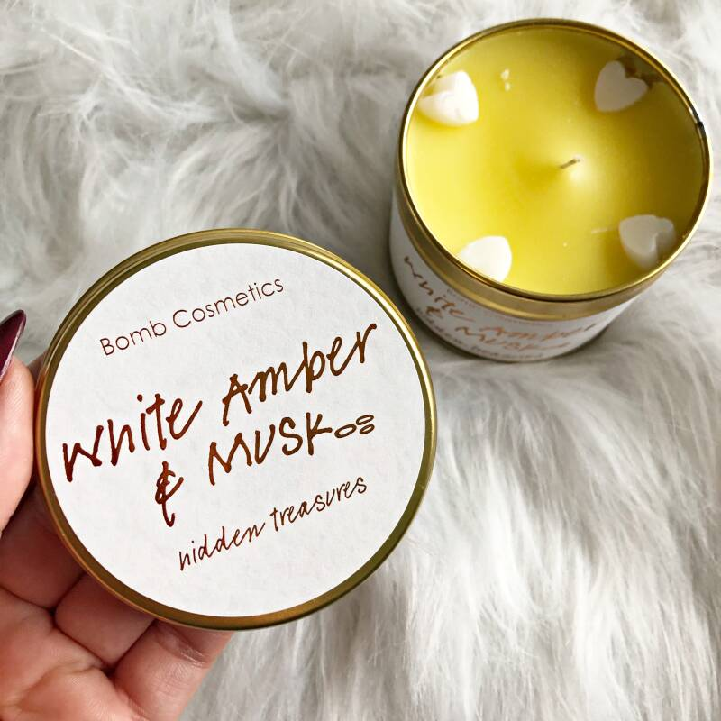 TINNED CANDLE - WHITE AMBER & MUSK