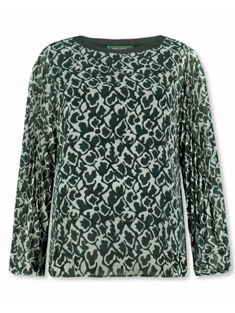 Lizzy & Coco - blouse groen print