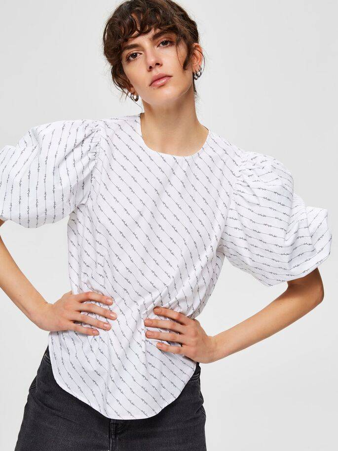 Selected Femme - Ballonmouw Blouse