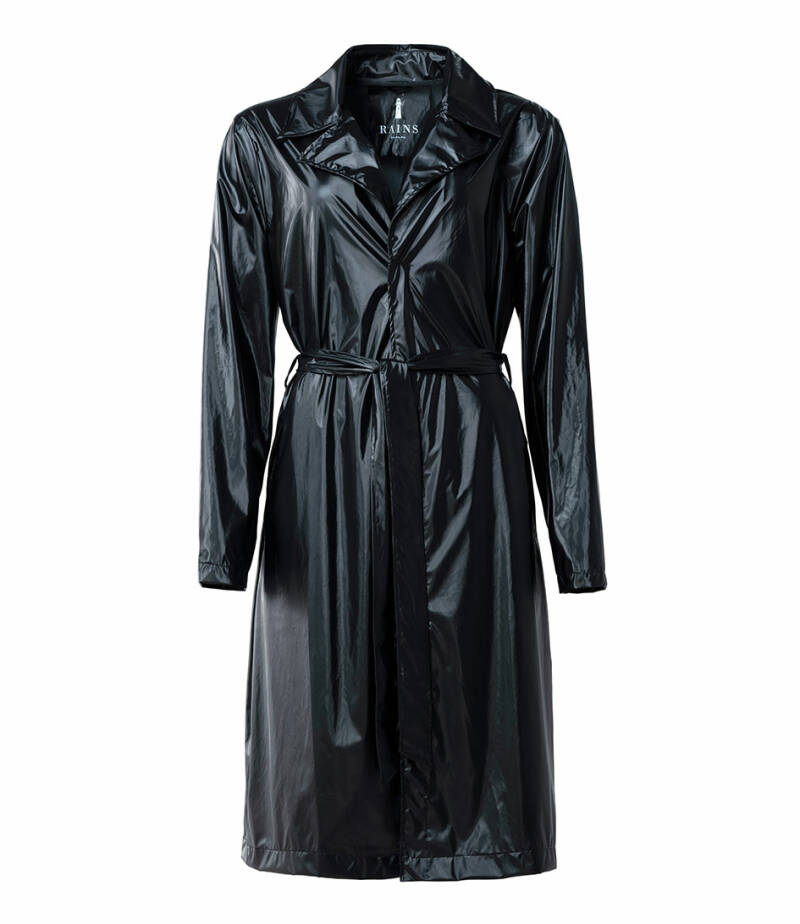 Rains - city overcoat shiny black