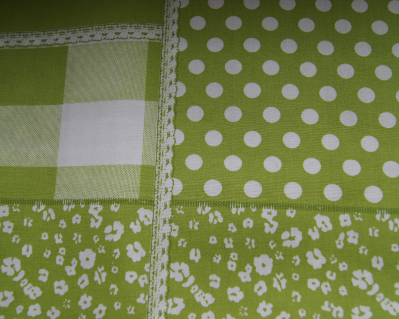 Patche work  - Lime groen -