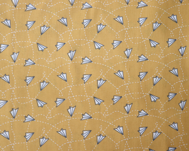 Origami planes  - Soft oker geel -
