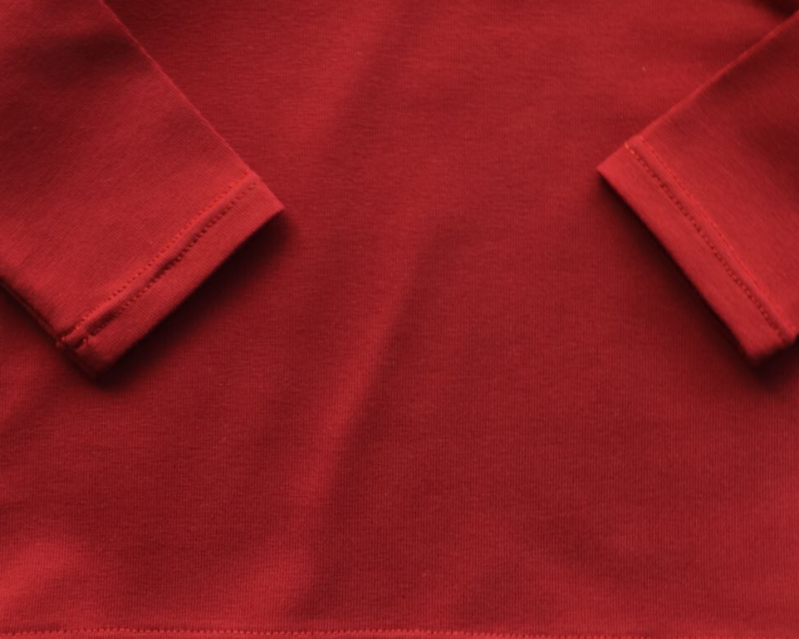 Long sleeve  - Roest rood -