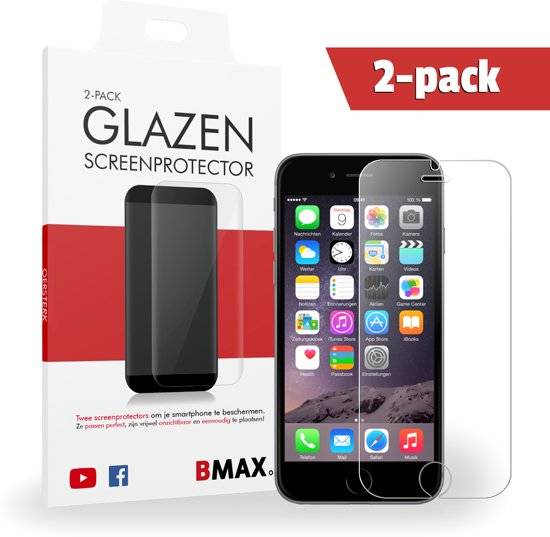 2-pack iPhone 6 - 6s Glazen Screenprotector