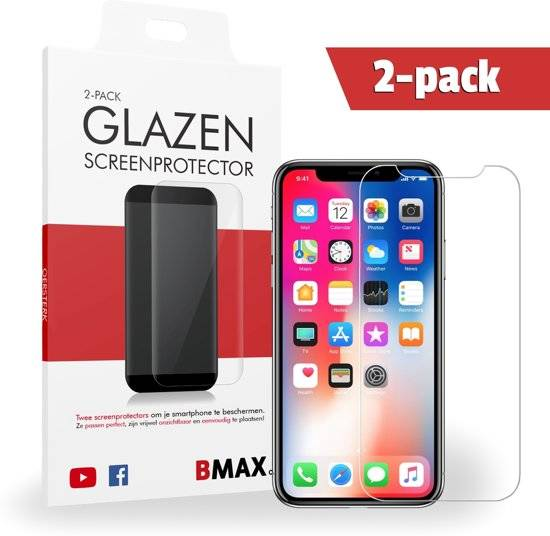 2-pack iPhone X Glazen Screenprotector