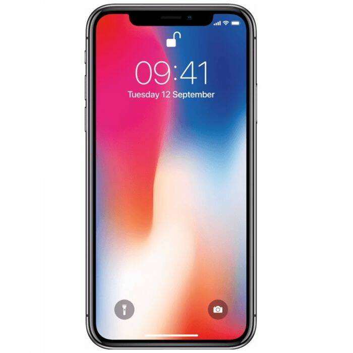Refurbished Apple iPhone X 256GB Zwart