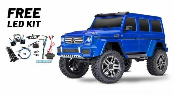 Traxxas TRX-4 Mercedes G500 4x4 Blue met gratis Led Set