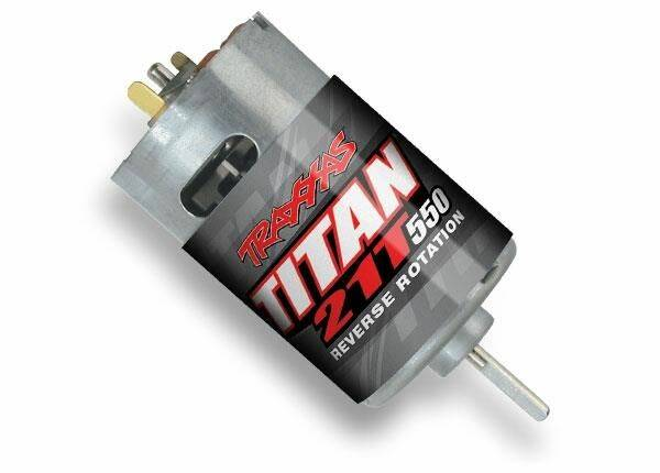 Motor, Titan 550, reverse rotation (21-turns/ 14 volts) (1)