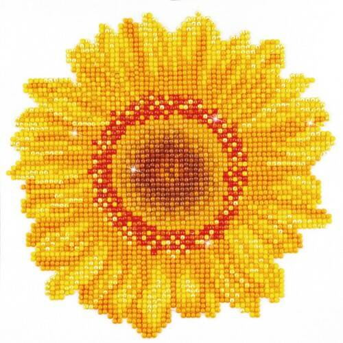 Diamond Dotz Happy Day Sunflower: 20x20 cm