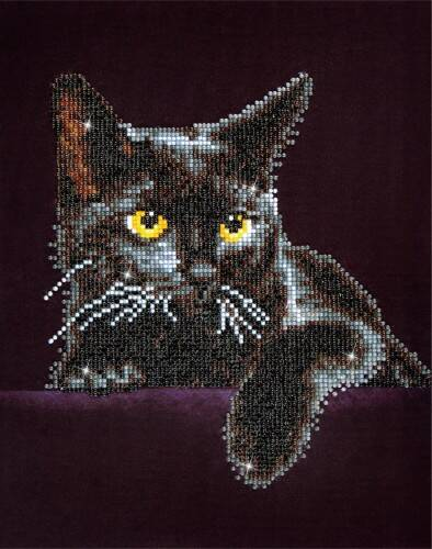 Diamond Dotz Midnight Cat: 28x36 cm