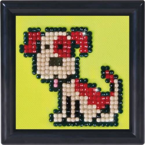 Diamond Dotz Fido in frame: 7x7 cm