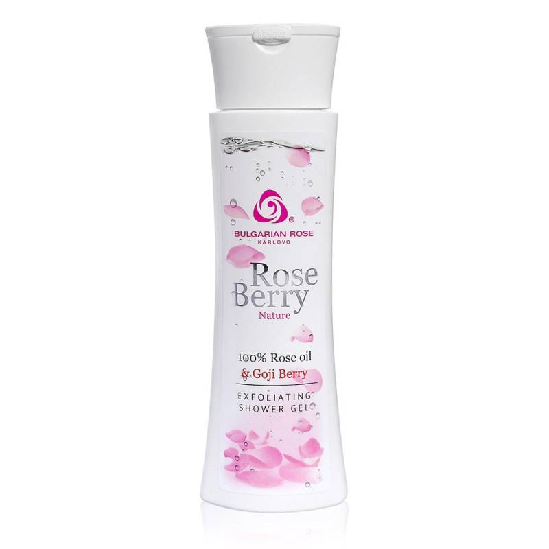 Exfoliating shower gel Rose Berry Nature