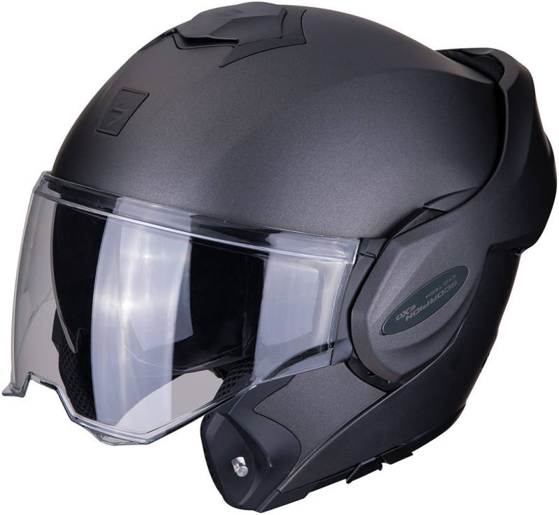SCORPION EXO-TECH SOLID FLIP BACK HELM / 4 kleuren