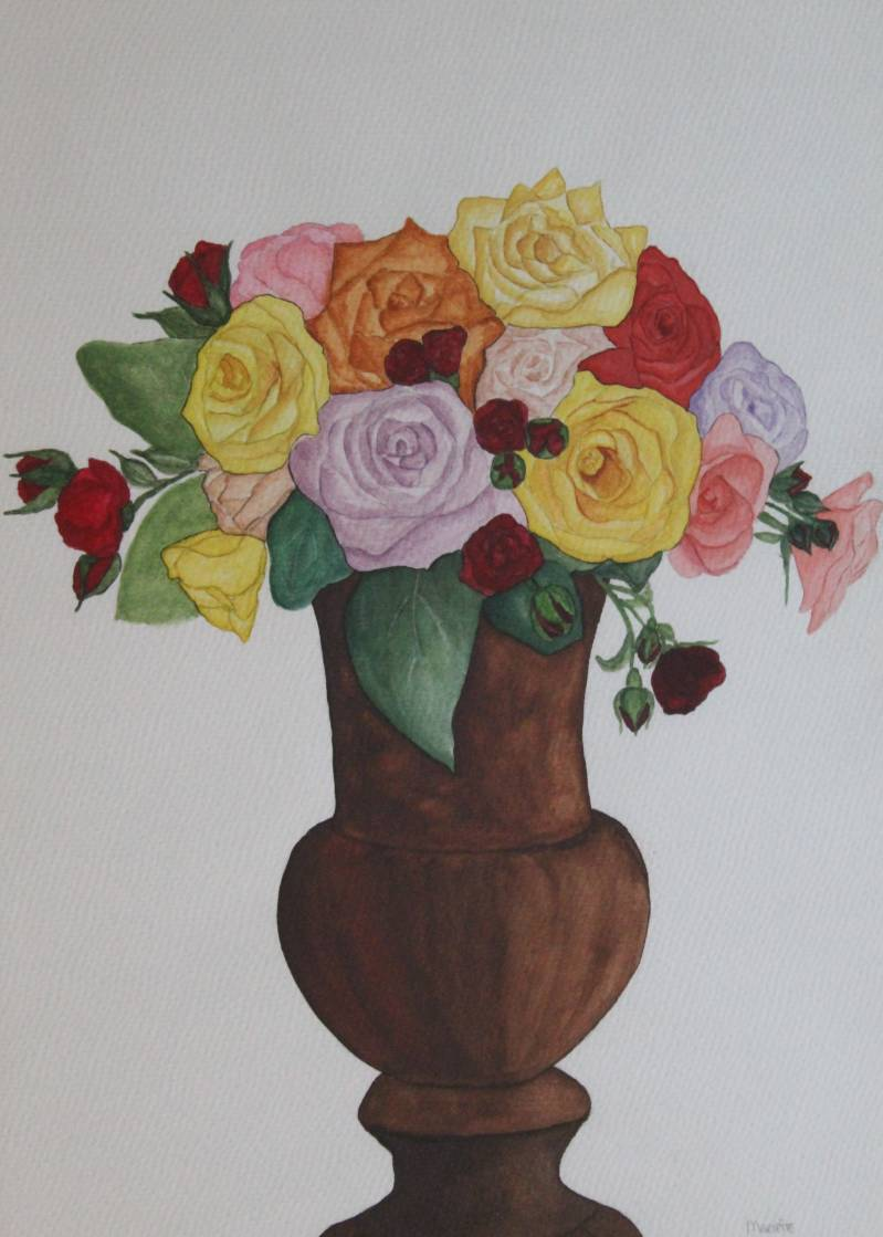 Rozenboeket in vaas - Roses bouquet in vase