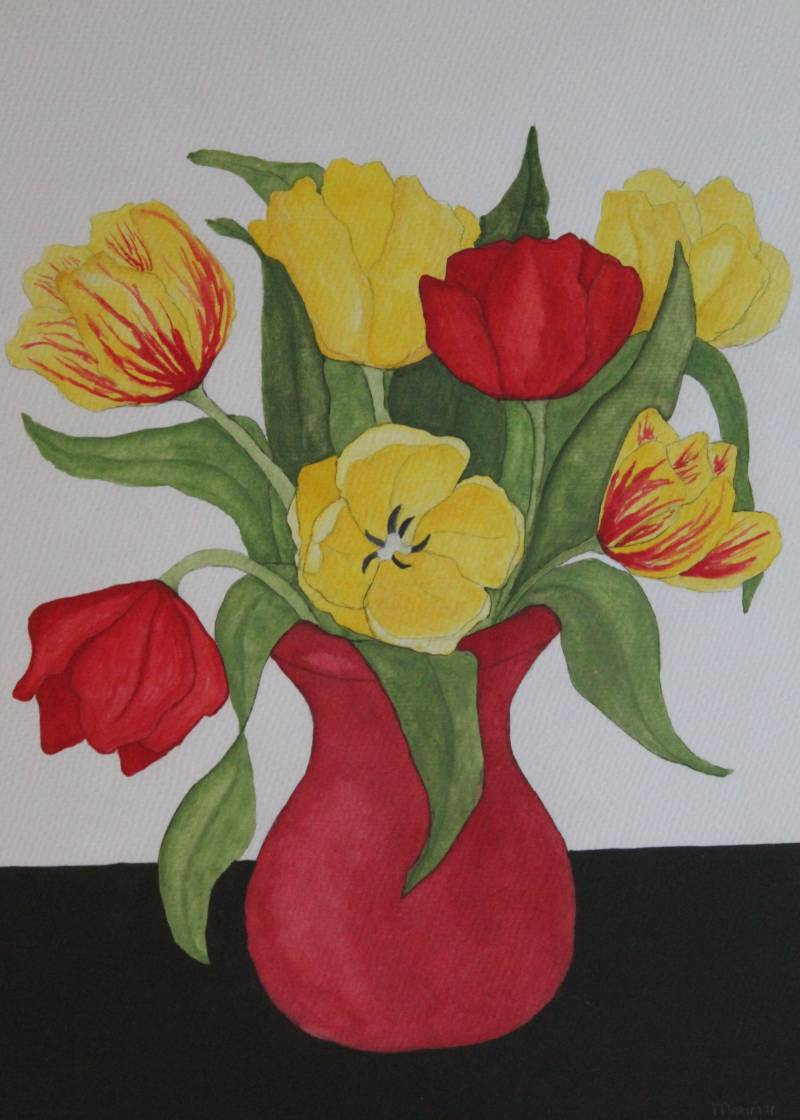 Tulpen in de vaas - Tulips in the vase