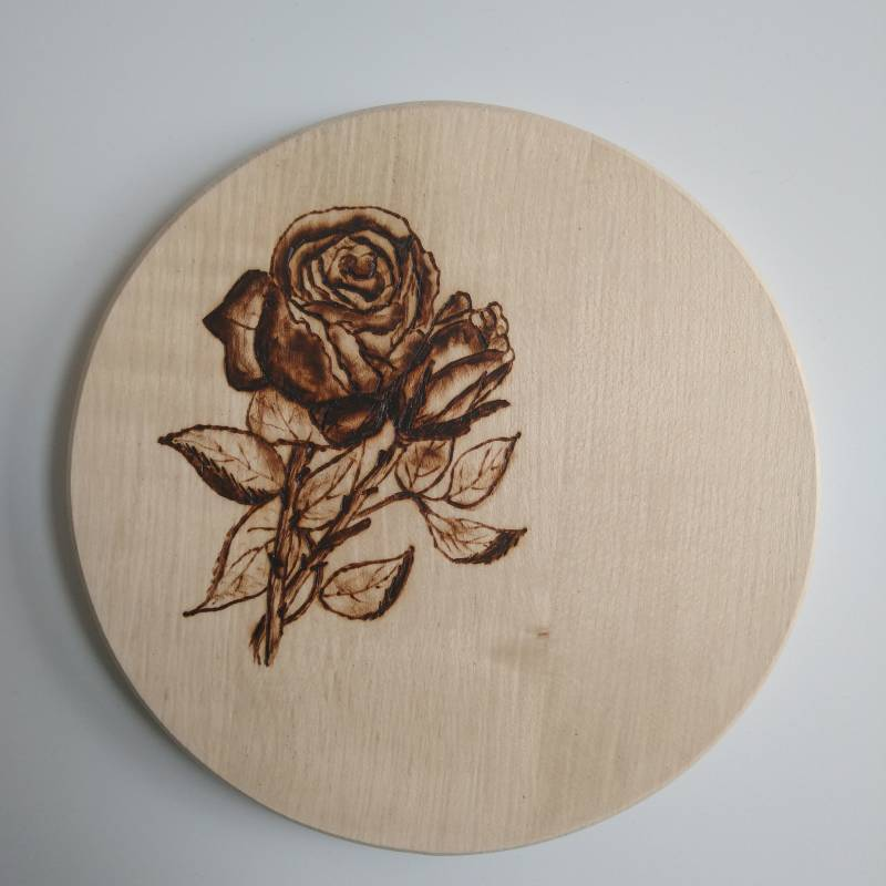 Onderzetter roos of muurdecoratie - Coaster rose or wall decoration