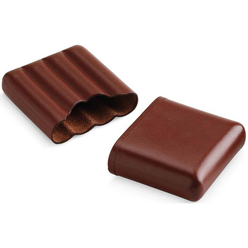 EGOIST 4 PCS BROWN POCKET CIGAR CASE