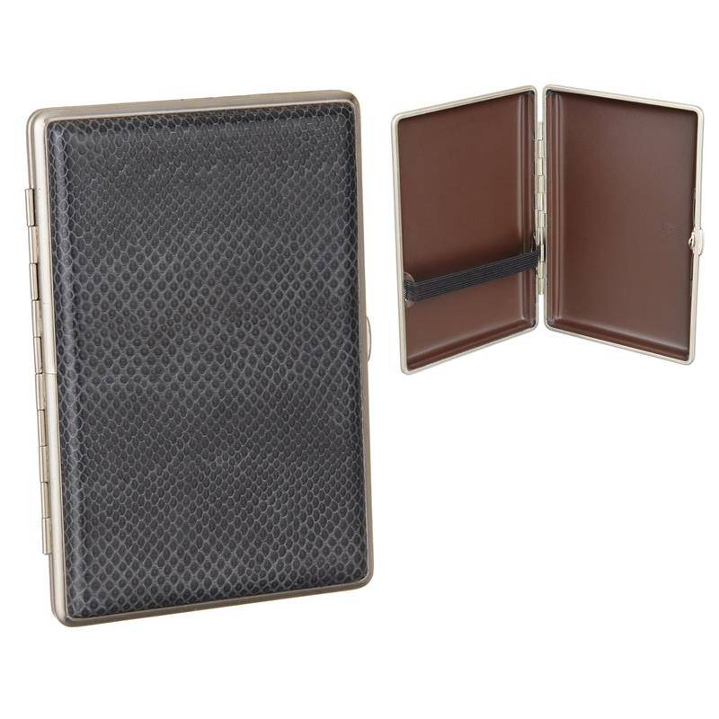 METAL CIGAR CASE VOM HOFE FOR 4 PCS 14X1,8CM MATTE