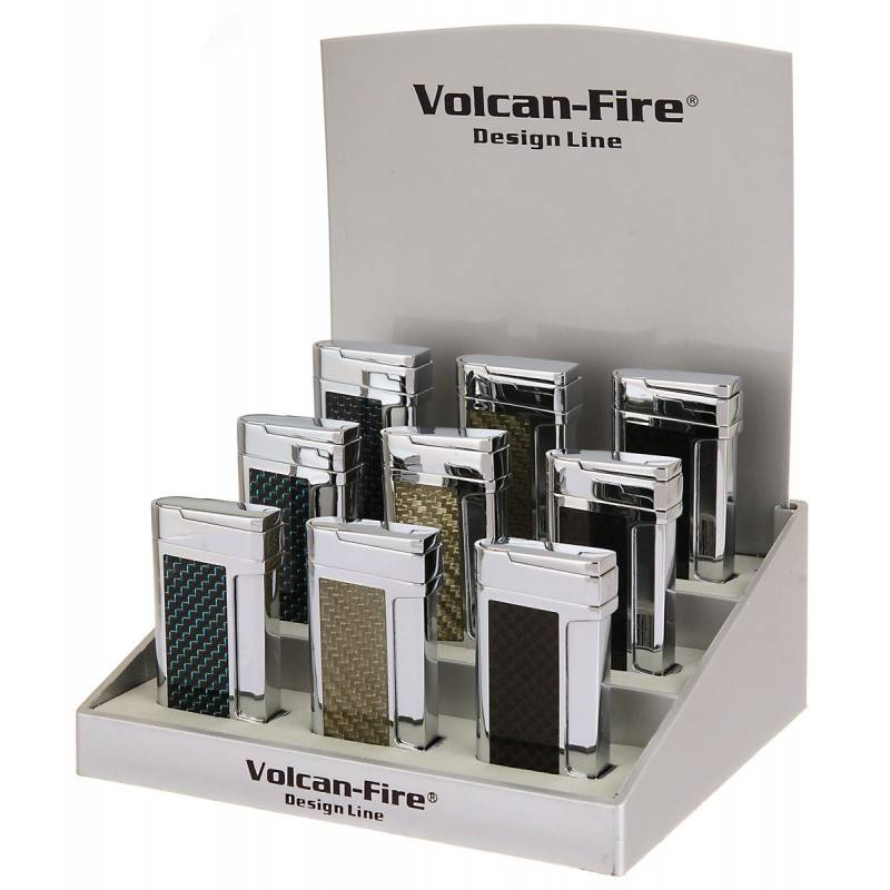 Volcan Lighter Carbon Fire