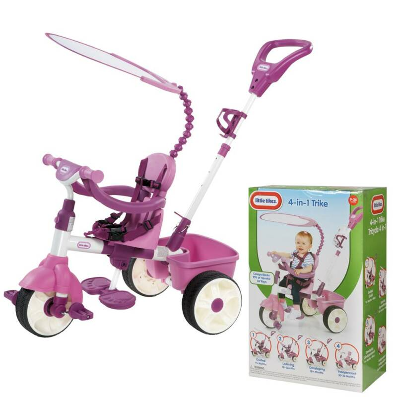 LITTLE TIKES TRIKE 4IN1 ROZE
