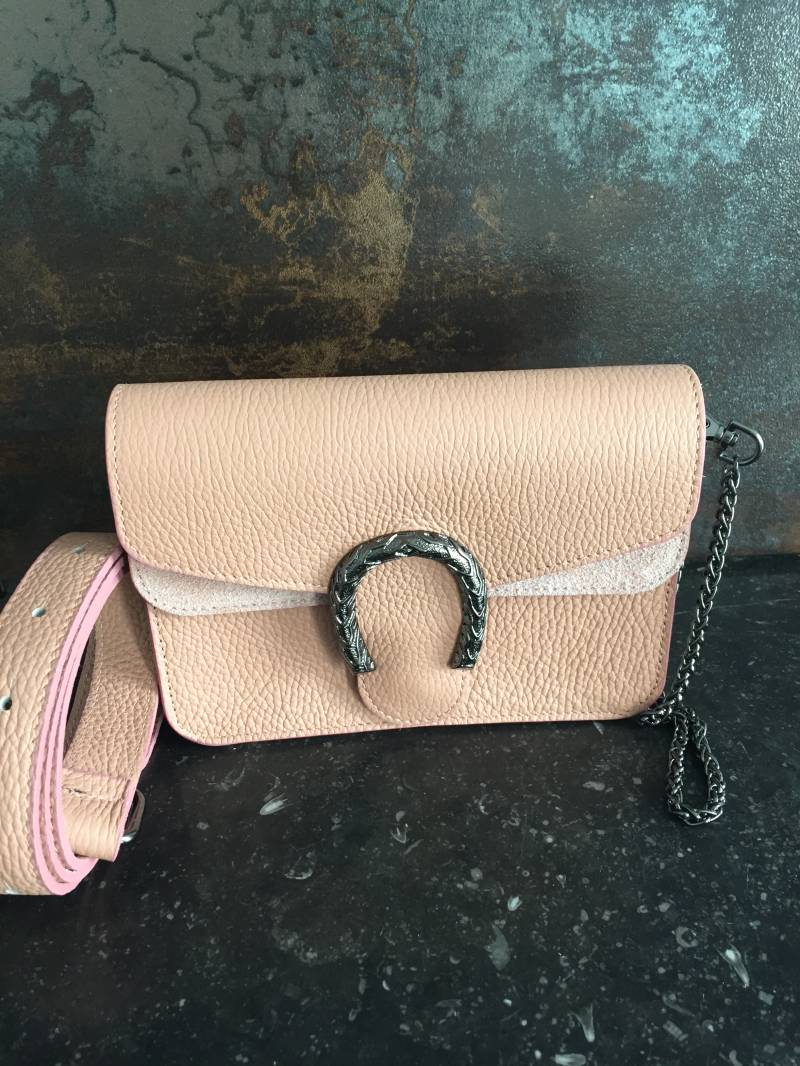 Inspired Clutch/Belt Bag Nude Leather