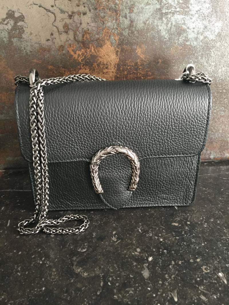 Inspired Leather Clutch Black