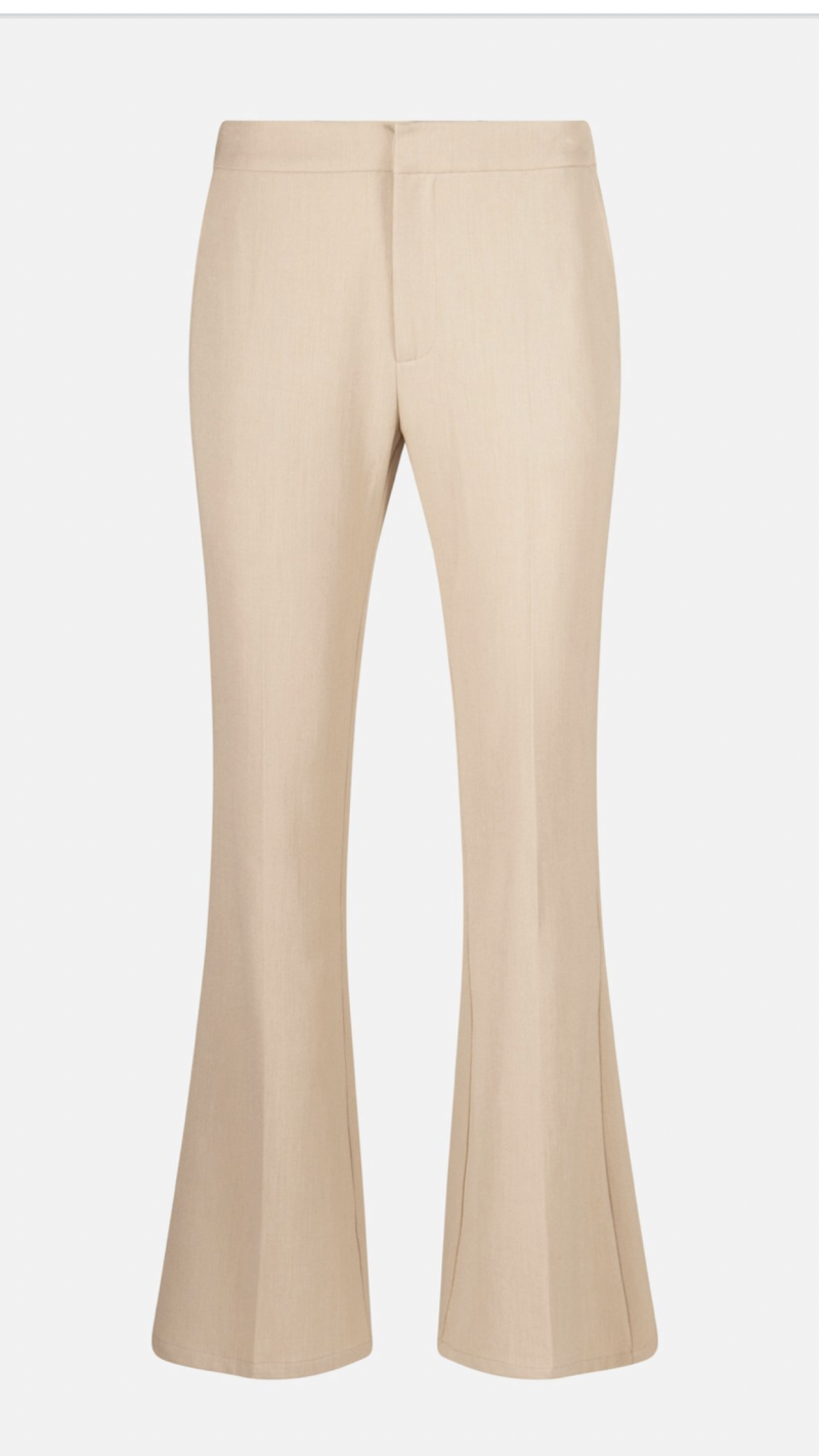 Radical Long Flared Stretch Pants Nude