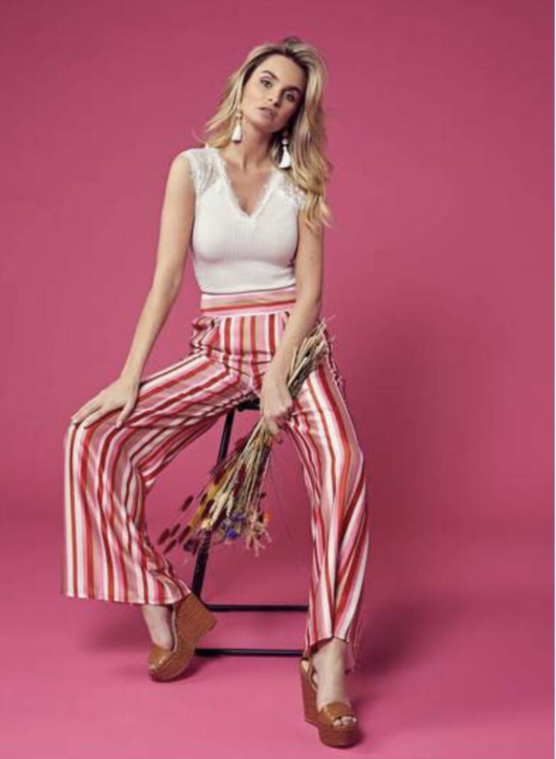 Radical Trousers Pink Stripes