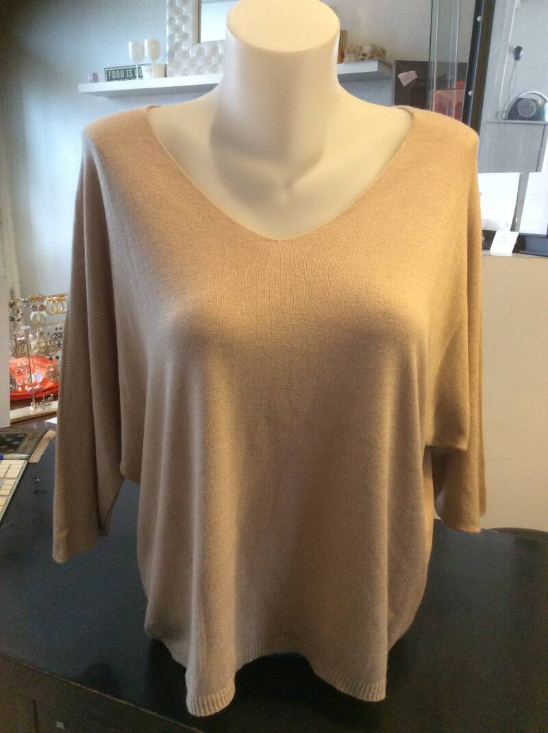 Knitted Shirt Taupe