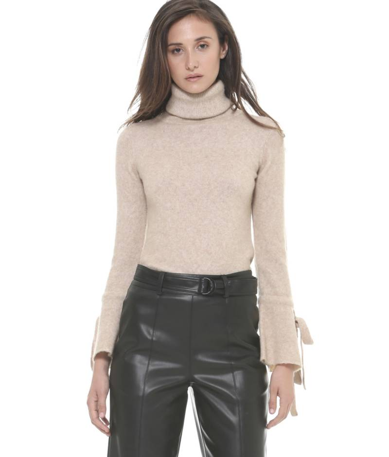 Turtleneck With Bow Cuffs SH